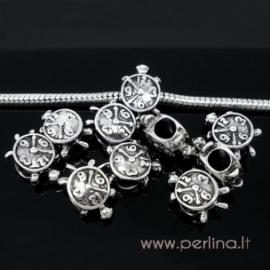 """Pandora metalinis karoliukas """"Laikrodis"""", 16x10 mm"""