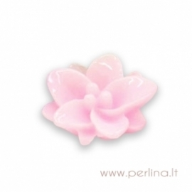 """Akrilinis kabošonas """"Pink Flower"""", 13x12 mm"""
