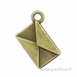"""Bronzos sp. pakabukas """"Envelope"""", 18x15 mm"""