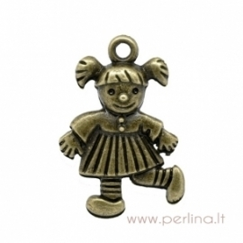 "Bronzos sp. pakabukas ""Girl"", 36x23 mm"