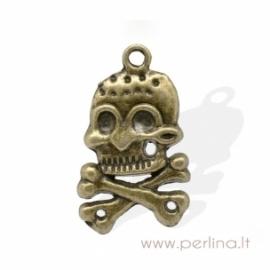 """Bronzos sp. pakabukas """"Skull"""", 32x19 mm"""