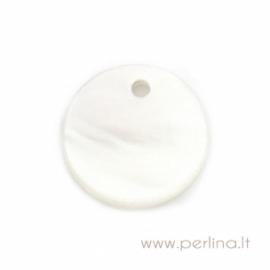"Kriauklės pakabukas ""White"", 13 mm"