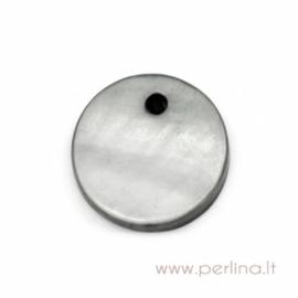 """Kriauklės pakabukas """"Grey"""", 13 mm"""