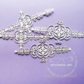"""Kartoninė detalė """"Ornamentas - Paryžius"""", 4 vnt."""