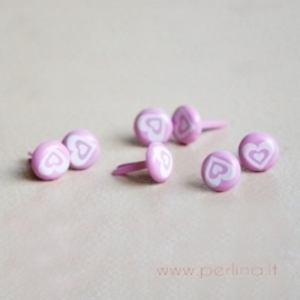 "Dek.vinukai ""Pink Circle with Hearts"", 10 vnt."
