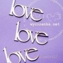 "Kartoninė detalė ""Love"", 3 vnt."