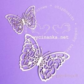 """Kartoninė detalė """"Atogrąžų miškų - drugeliai"""", 2 vnt."""