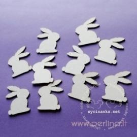 "Chipboard ""Bunnies, 3 cm"", 3 pcs"
