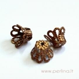 Bead cap, copper, 7x5 mm