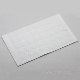 Skaidrūs lipnūs stačiakampiai, 20x18 mm