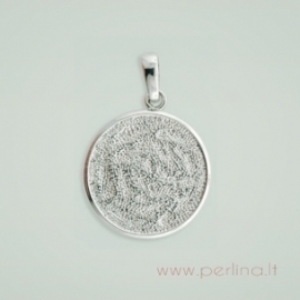 DeCoRe Round Pendant With Bezel, 45 mm