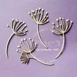 """Kartoninė detalė """"Vasarinės gėlės"""", 4 vnt."""