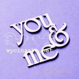 "Kartoninė detalė ""You & Me"", 1 vnt."
