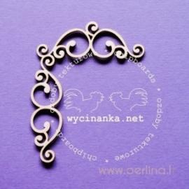 "Kartoninė detalė ""Romance - ornamentas-2"", 4 vnt."