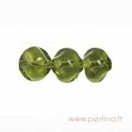 Stiklinis karoliukas, žalias, 10 mm