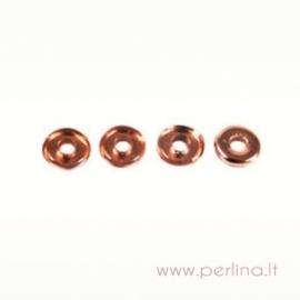 Glass bead, o-ring, apollo (gold), 1x3,8 mm, 10 pcs