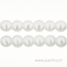 Stiklinis perlas, sniego baltumo, 3 mm, 10 vnt.