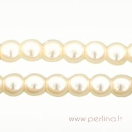 Stiklinis perlas, vanilės sp., 3 mm, 10 vnt.