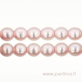 Stiklinis perlas, šv. rožinės sp., 3 mm, 10 vnt.