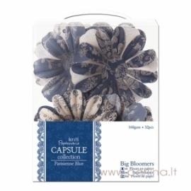 """Popierinių gėlyčių žiedlapiai """"Big Bloomers - Parisienne Blue"""", 32 vnt."""