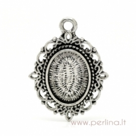 Antique silver pendant - frame, 36x27 mm