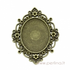 Antique bronze pendant - frame, 6,8x5,2 cm