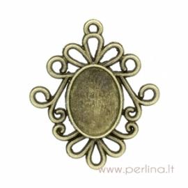 Antikinės bronzos sp. pakabukas - rėmelis, 3,1x2,6 cm