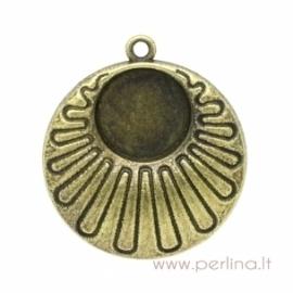 Antikinės bronzos sp. pakabukas - rėmelis, 3,2x2,8 cm