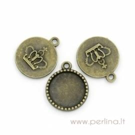 Antikinės bronzos sp. pakabukas - rėmelis, 26x22 mm
