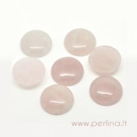 Cabochon, rose quartz, 20 mm