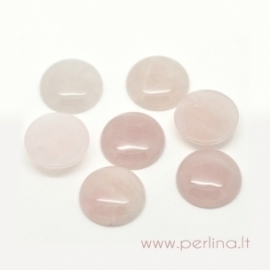 Kabošonas, rožinis kvarcas, 20 mm