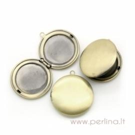 Bronzos sp. pakabukas - medalionas, 36x32 mm