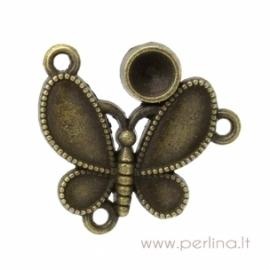 """Antikinės bronzos sp. sujungimas - paskirstytojas """"Drugelis"""", 23x22 mm"""