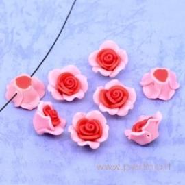 """Polimerinio molio karoliukas """"Gėlė"""", 25x14 mm"""
