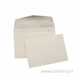Card and envelope, white, 8,9x6,3 cm