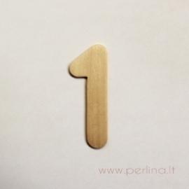 Medinis skaičius, vienas, 7x2,5 cm