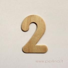 Medinis skaičius, du, 6,8x4,3 cm