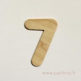 Medinis skaičius, septyni, 7x4,3 cm