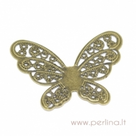 """Ažūrinė plokštelė """"Butterfly Wraps"""", bronzos sp., 4,3x3,3 cm"""