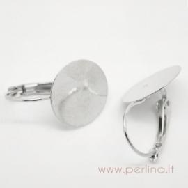 Sidabruoti auskarų kabliukai, 26x15 mm
