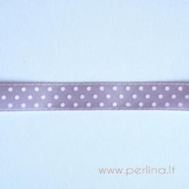 Satino juostelė, violetinė su taškeliais, 10 mm, 1 m