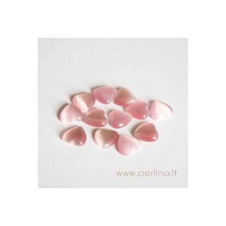 Katės akies kabošonas, šv. rožinė, 8x8 mm