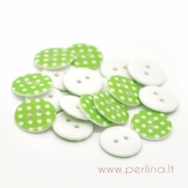 Akrilinė saga, žalia su taškeliais, 18 mm