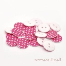 Akrilinė saga, rožinė su taškeliais, 18 mm