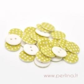 Akrilinė saga, geltona su taškeliais, 18 mm