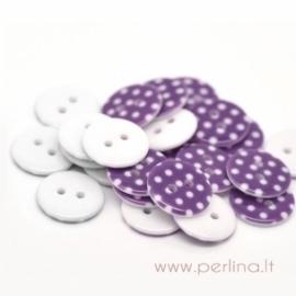 Akrilinė saga, violetinė su taškeliais, 18 mm