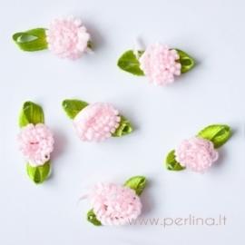 Satino gėlytė, rožinė, 2 cm