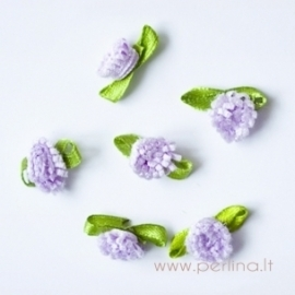 Satino gėlytė, alyvinė, 2 cm