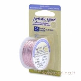 """Varinė vielutė """"Artistic Wire"""", raudono aukso sp., 0,4 mm, 13,72 m"""