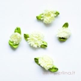 Satino gėlytė, gelsva, 2 cm